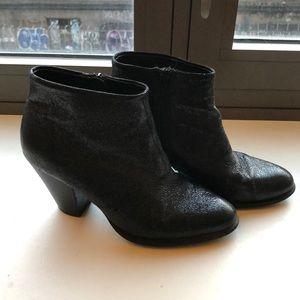 ALDO Montoro glittery leather heeled black booties